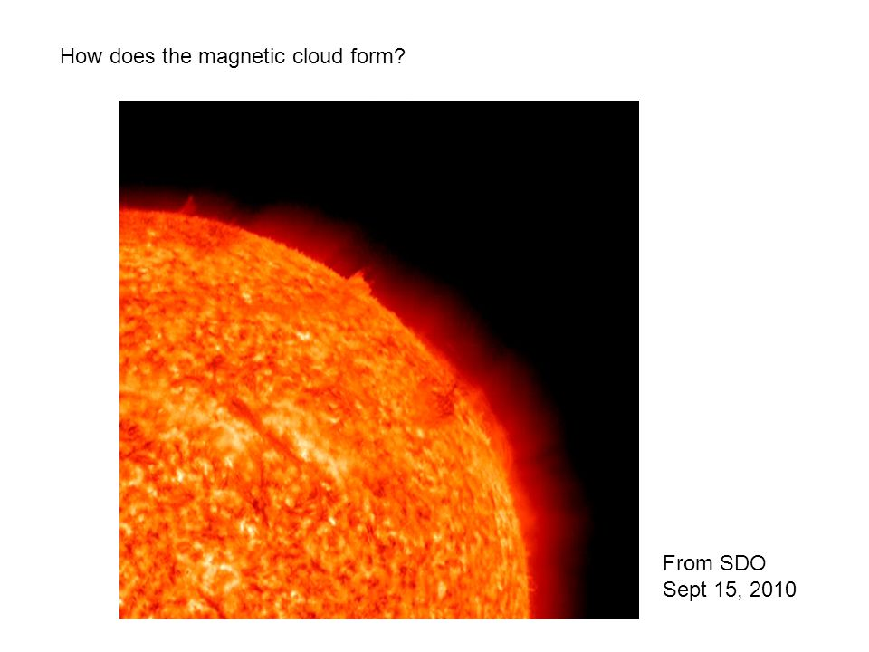 How does the magnetic cloud form