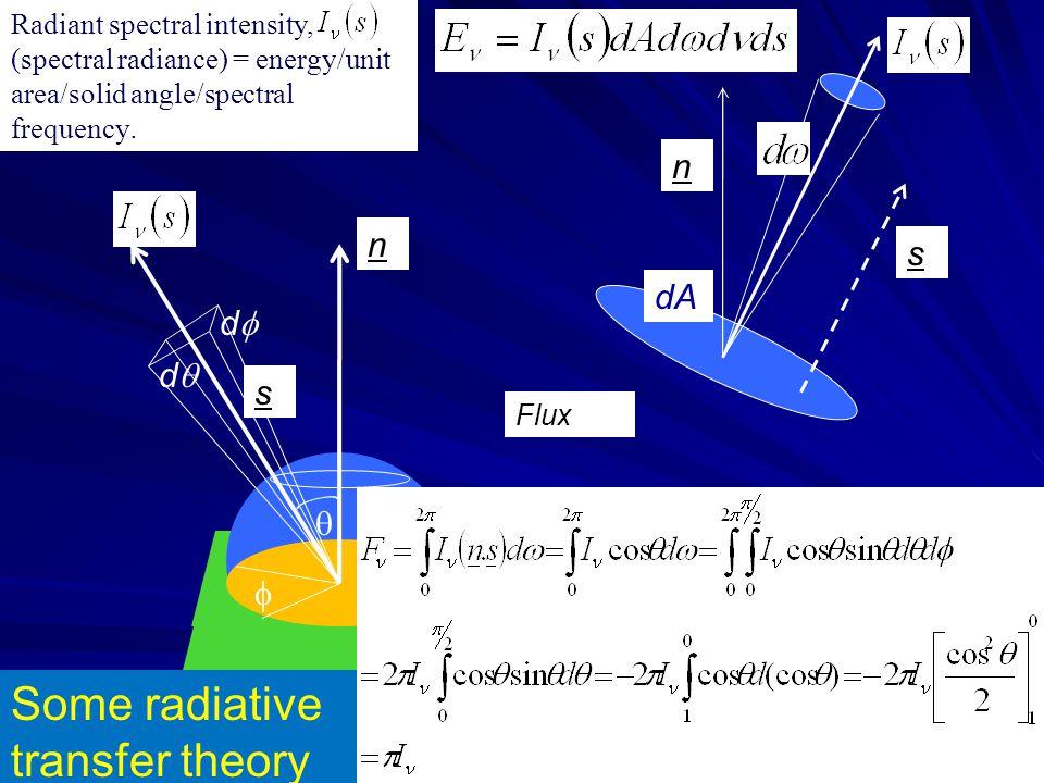 Some radiative transfer theory