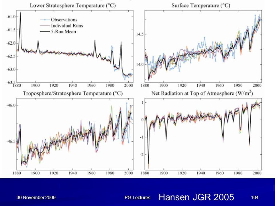 30 November 2009 PG Lectures Hansen JGR 2005