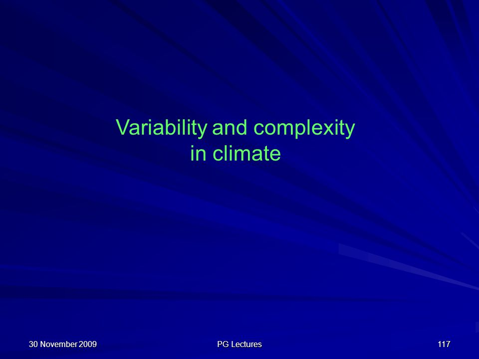 Variability and complexity