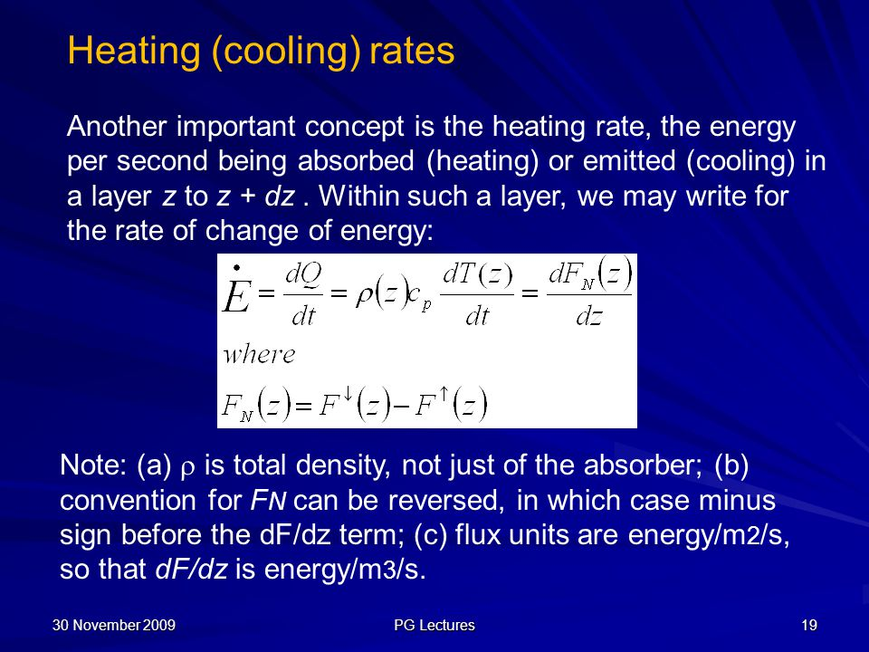 Heating (cooling) rates