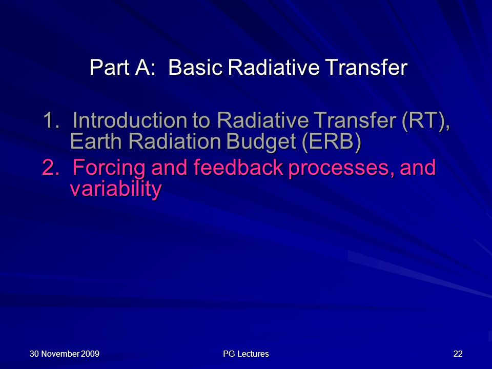 Part A: Basic Radiative Transfer