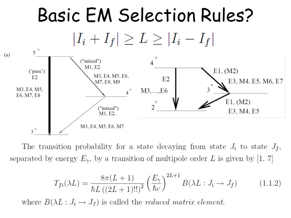 Basic EM Selection Rules