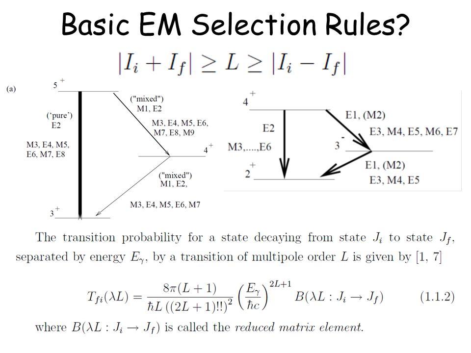 Basic EM Selection Rules