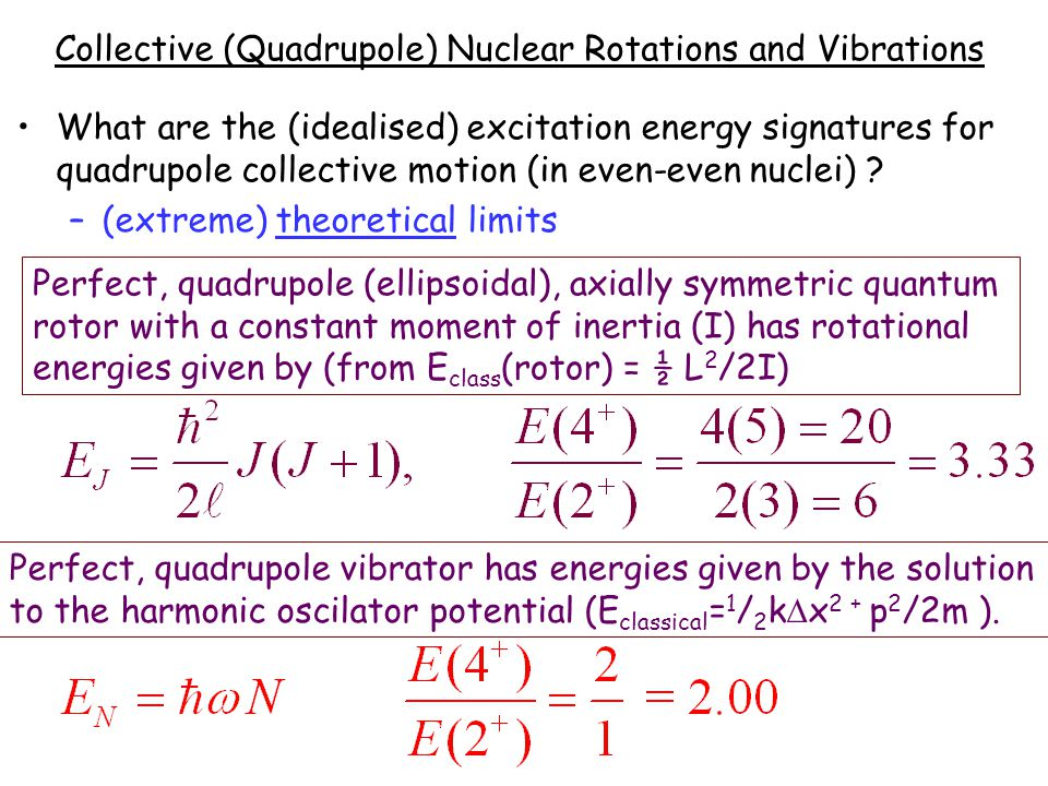 Collective (Quadrupole) Nuclear Rotations and Vibrations