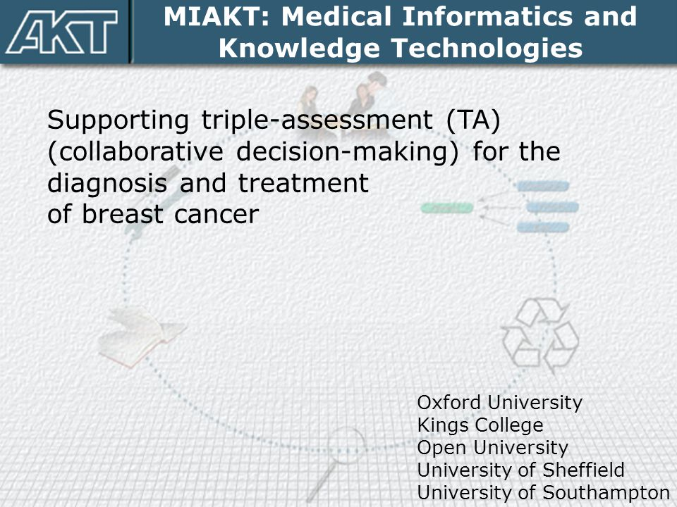 MIAKT: Medical Informatics and Knowledge Technologies