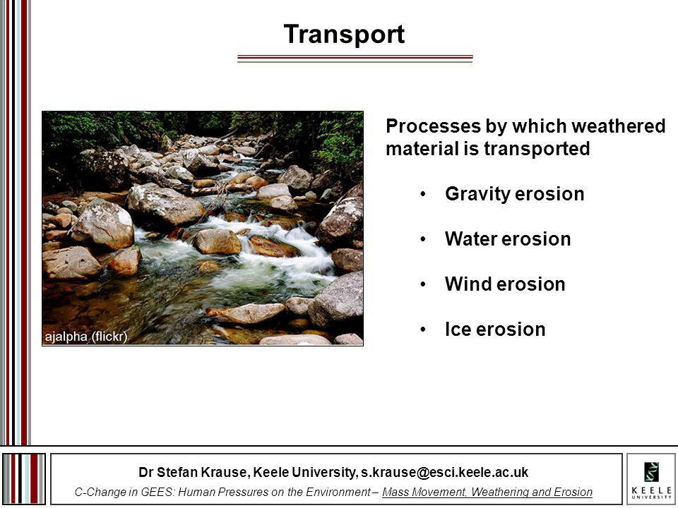 Dr Stefan Krause, Keele University, s.krause@esci.keele.ac.uk