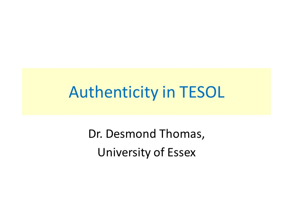 Dr. Desmond Thomas, University of Essex