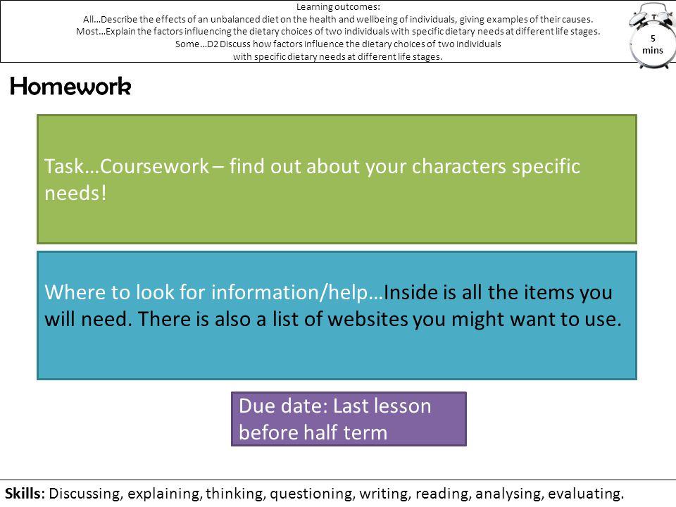 Homework Homework Task…