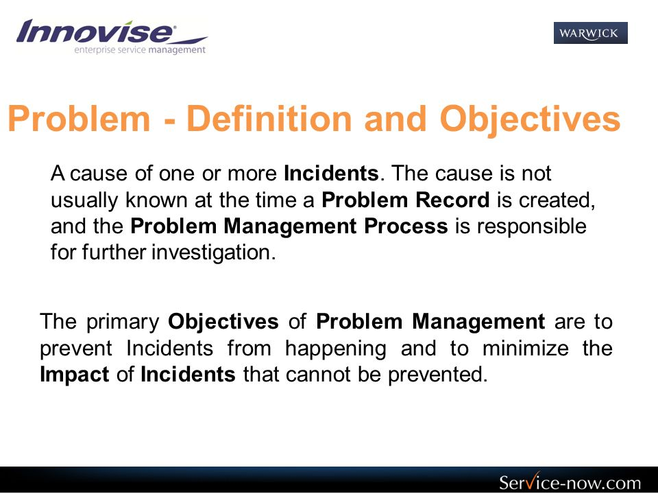 Problem - Definition and Objectives
