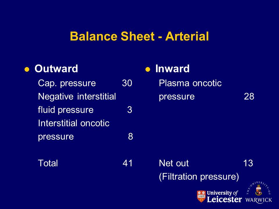 Balance Sheet - Arterial