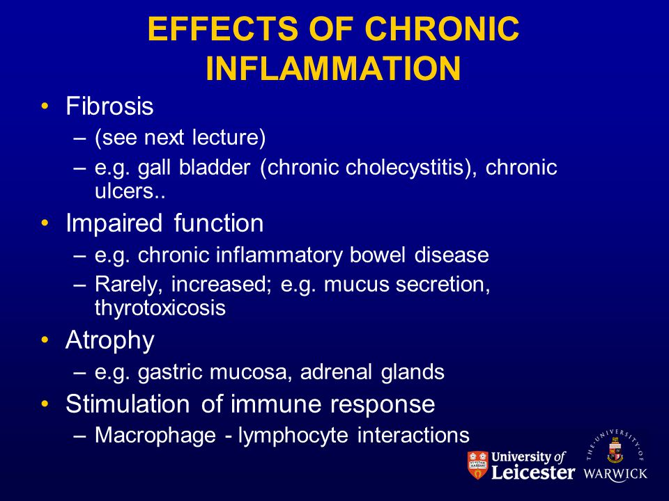 EFFECTS OF CHRONIC INFLAMMATION