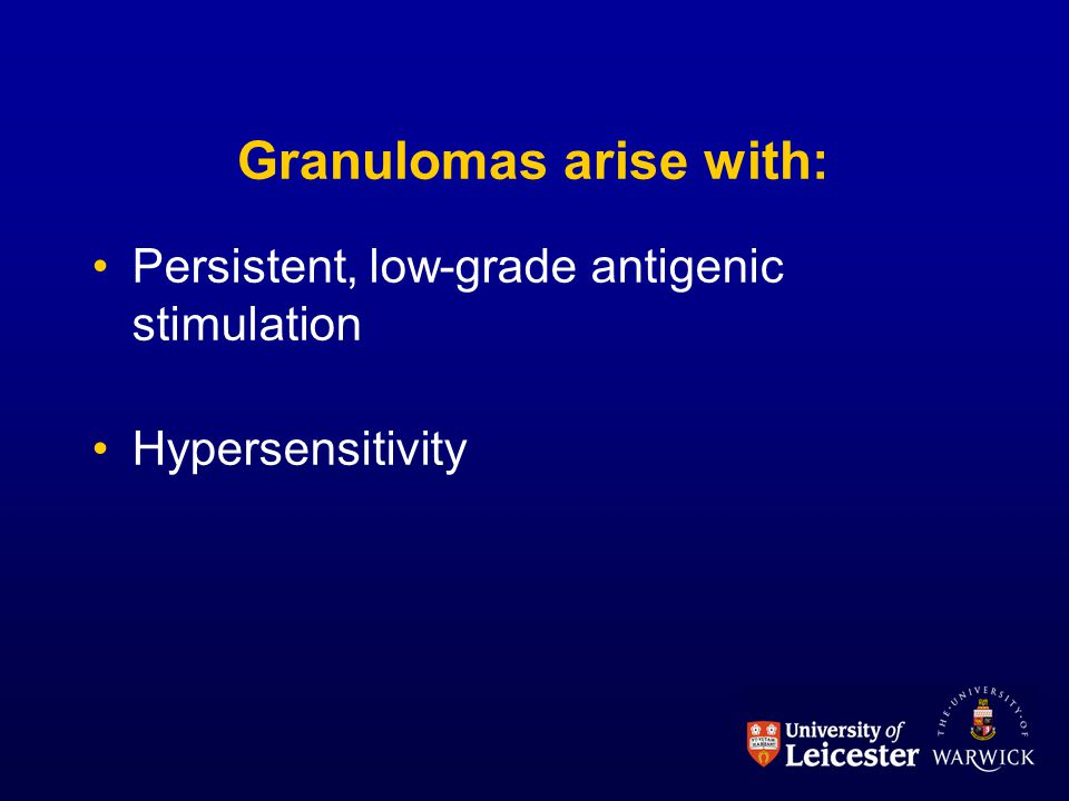 Granulomas arise with: