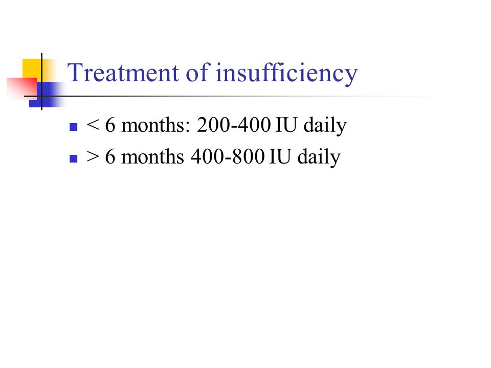 Treatment of insufficiency
