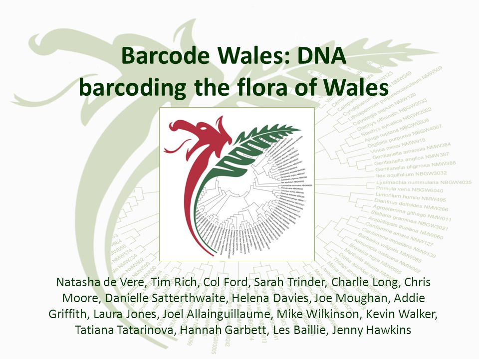Barcode Wales: DNA barcoding the flora of Wales