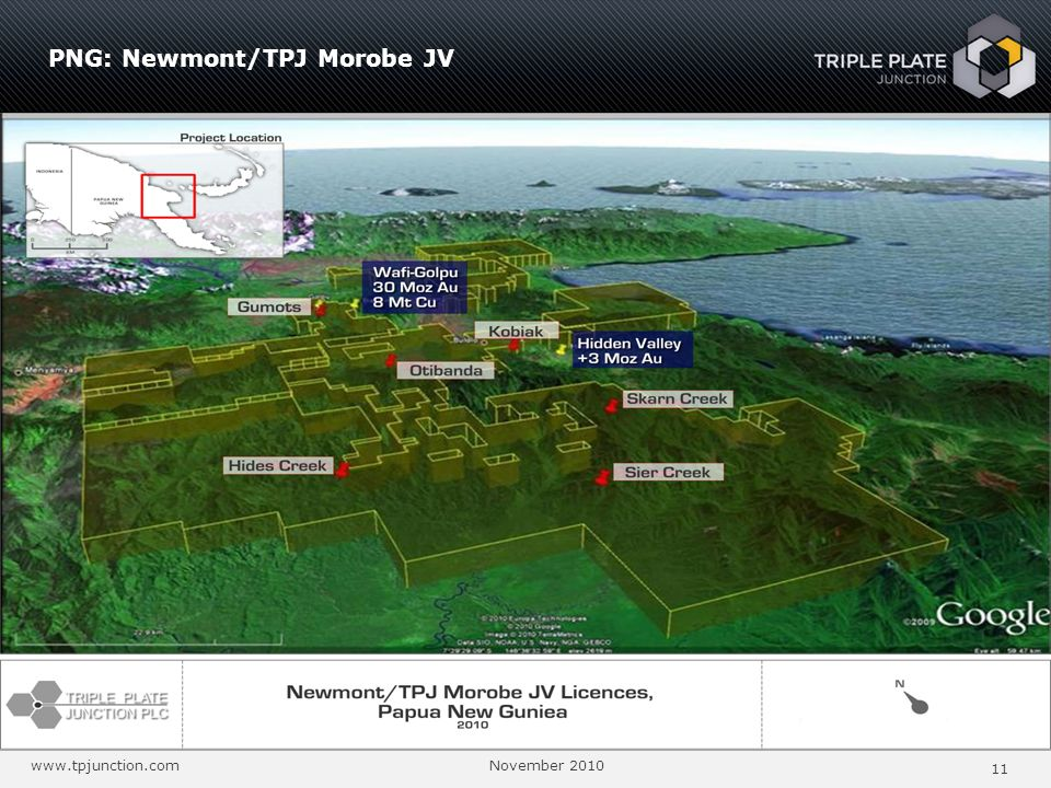 PNG: Newmont/TPJ Morobe JV