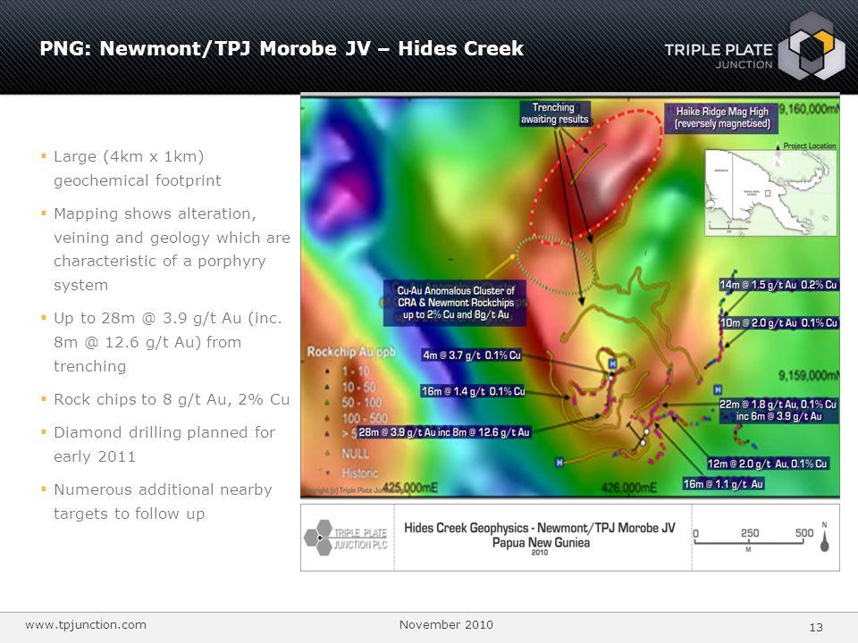 PNG: Newmont/TPJ Morobe JV – Hides Creek