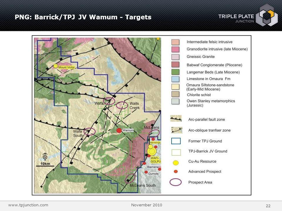 PNG: Barrick/TPJ JV Wamum - Targets