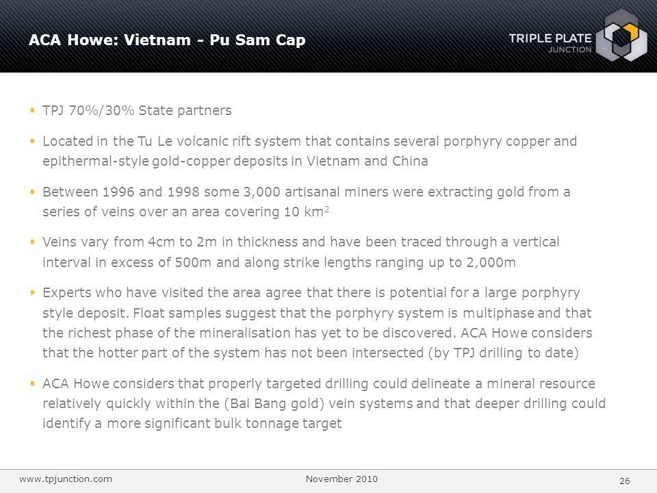 ACA Howe: Vietnam - Pu Sam Cap