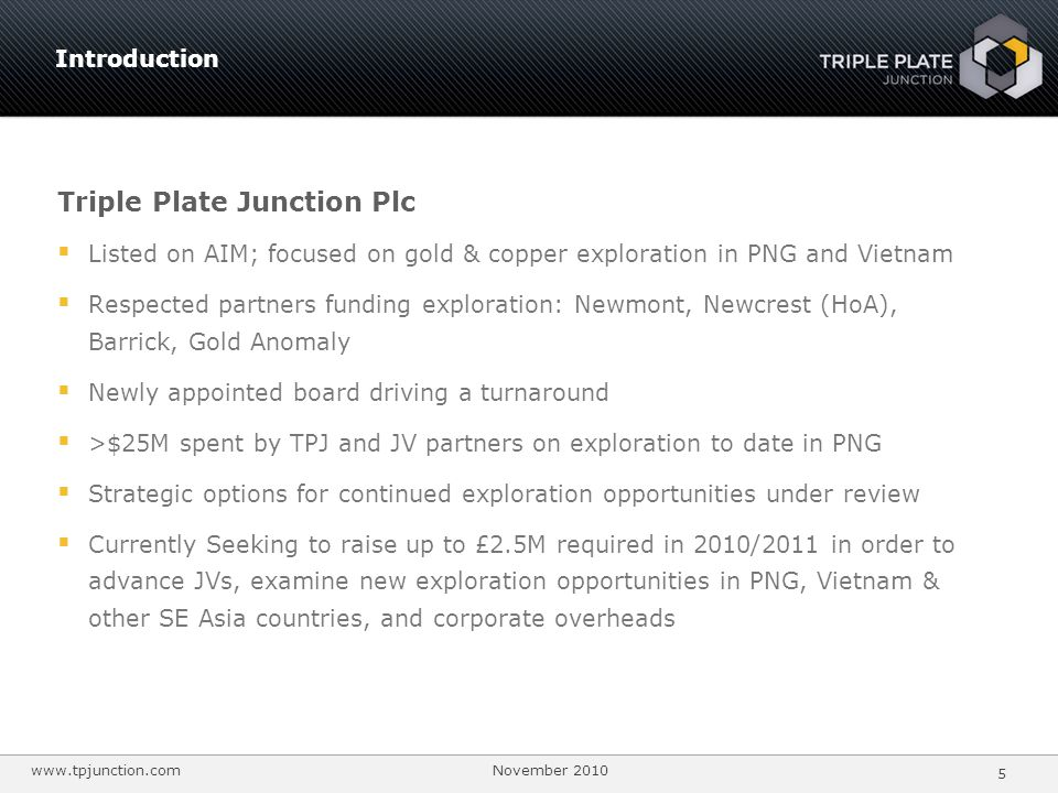 Triple Plate Junction Plc