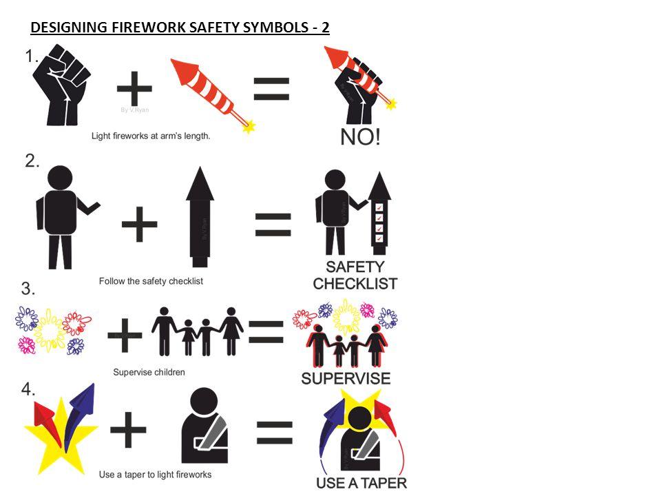 DESIGNING FIREWORK SAFETY SYMBOLS - 2