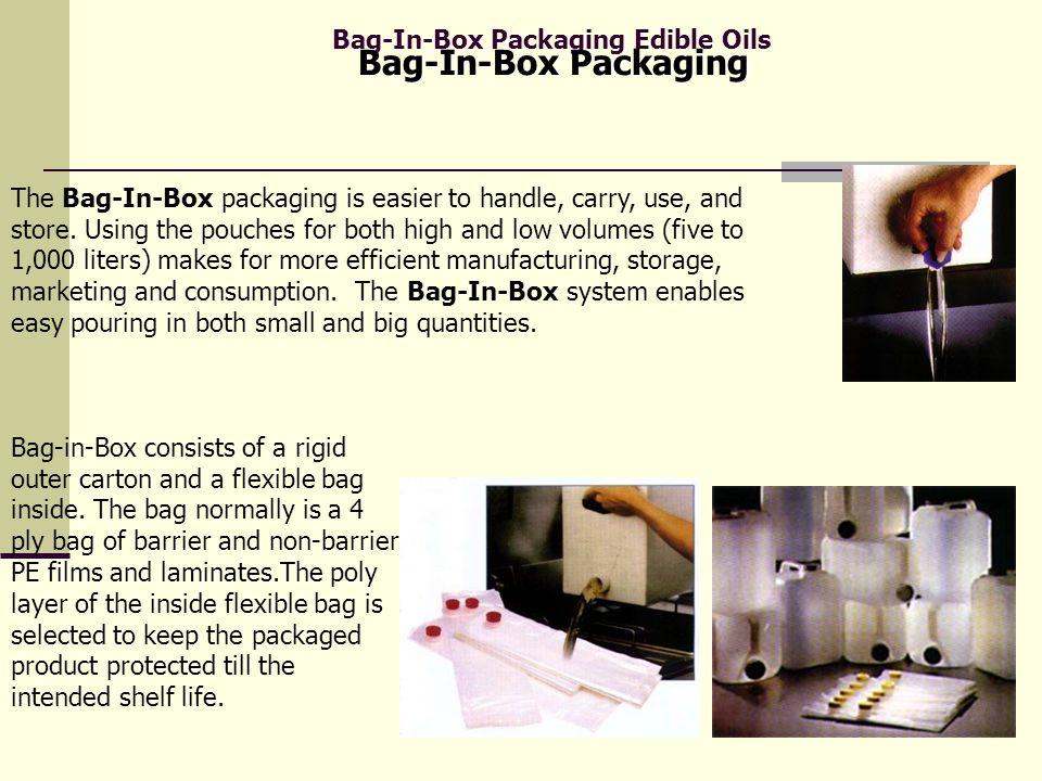 Bag-In-Box Packaging Edible Oils