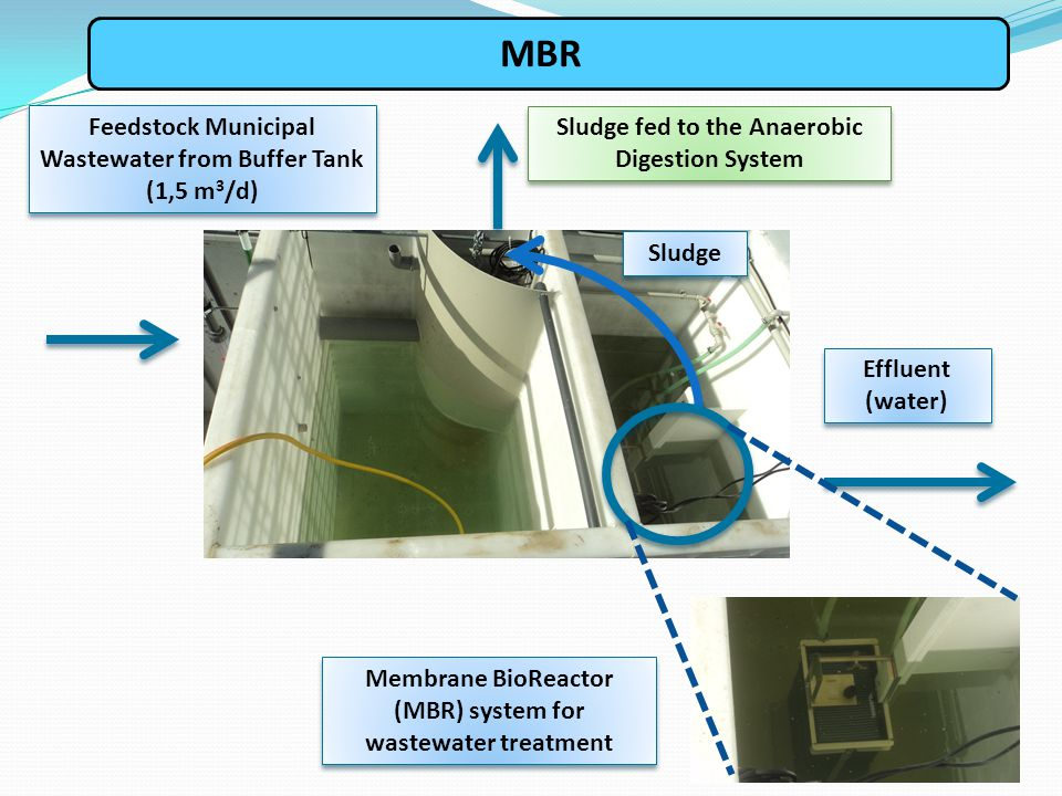 MBR Feedstock Municipal Wastewater from Buffer Tank (1,5 m3/d)