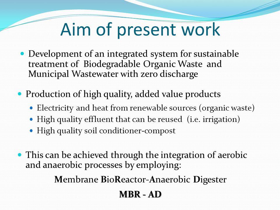 Membrane BioReactor-Anaerobic Digester