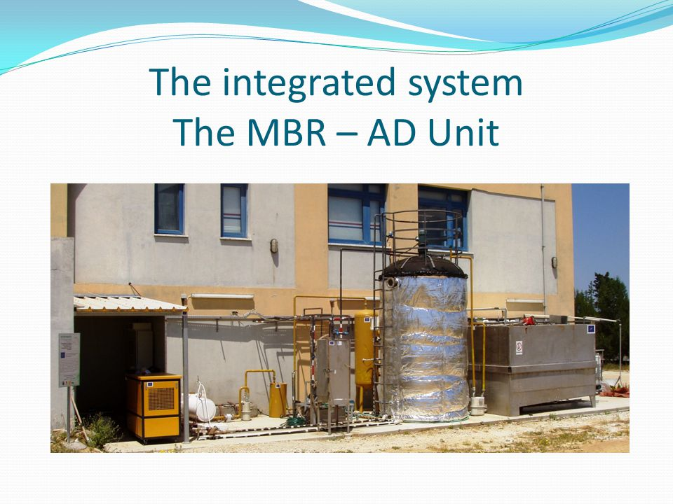 The integrated system The MBR – AD Unit