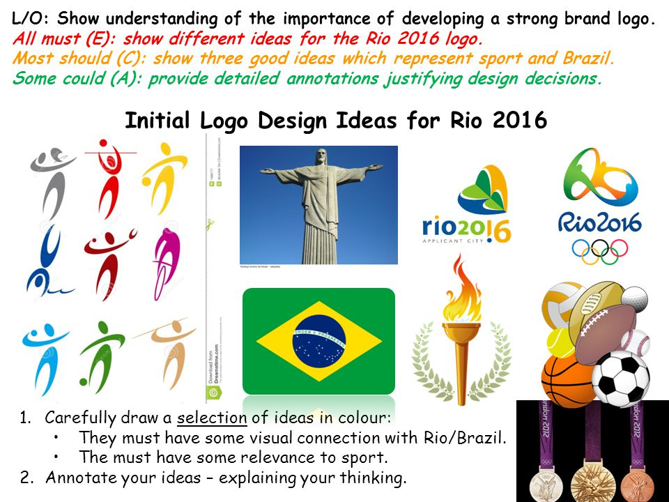 Initial Logo Design Ideas for Rio 2016