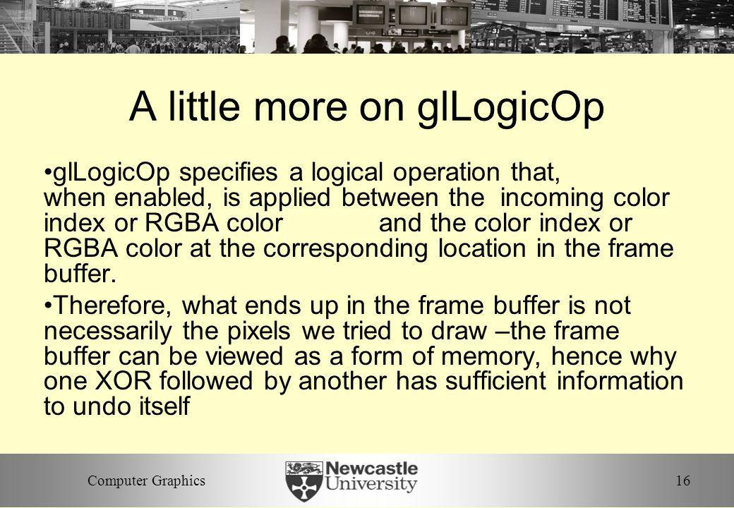 A little more on glLogicOp