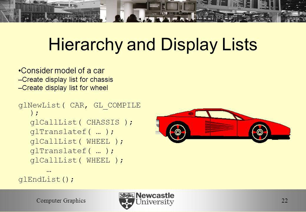 Hierarchy and Display Lists