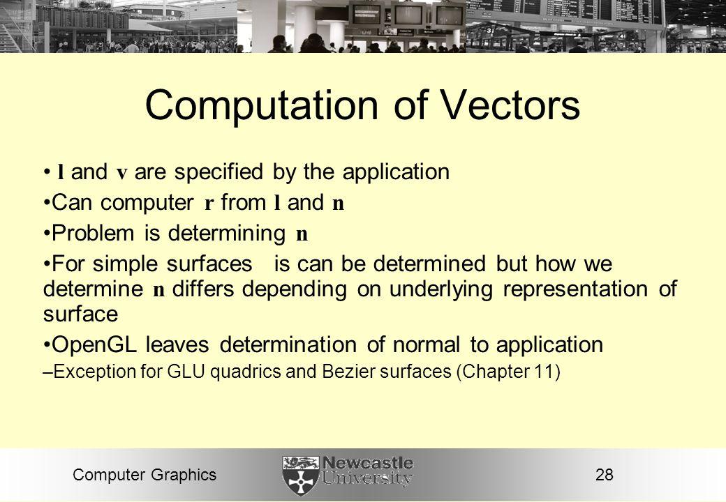 Computation of Vectors