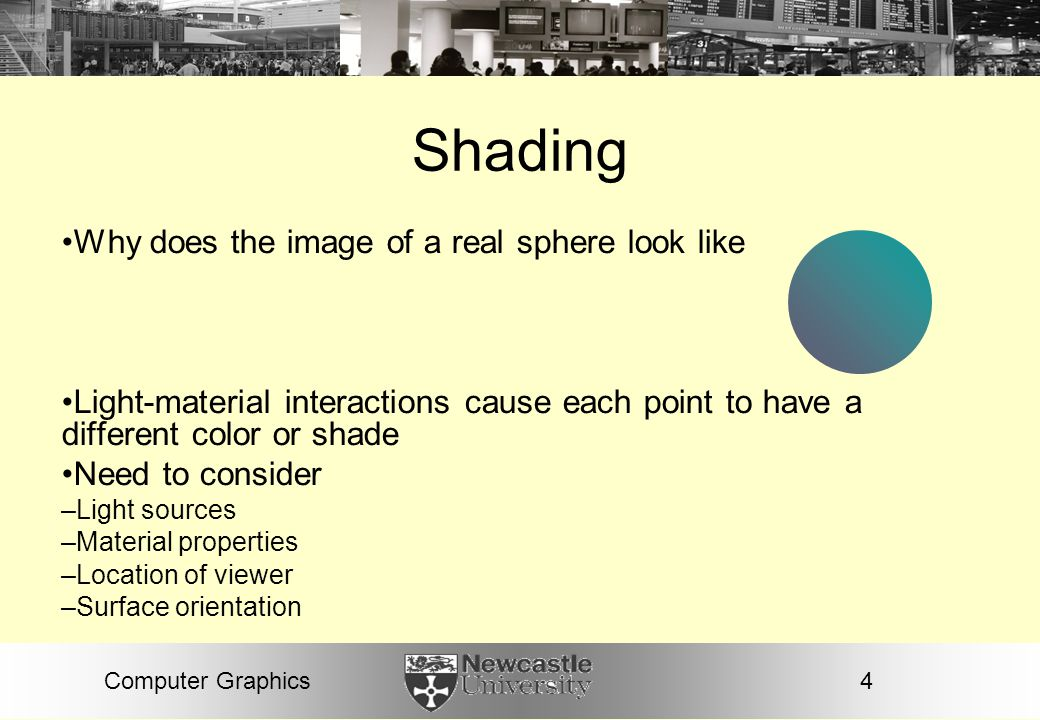 Shading Why does the image of a real sphere look like