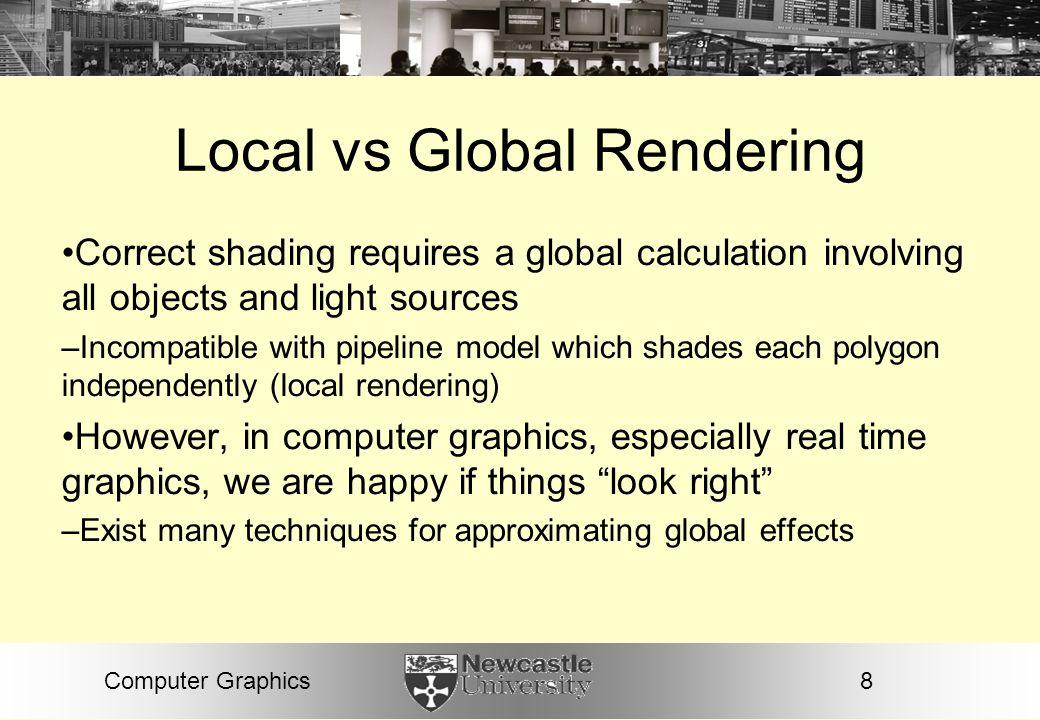 Local vs Global Rendering