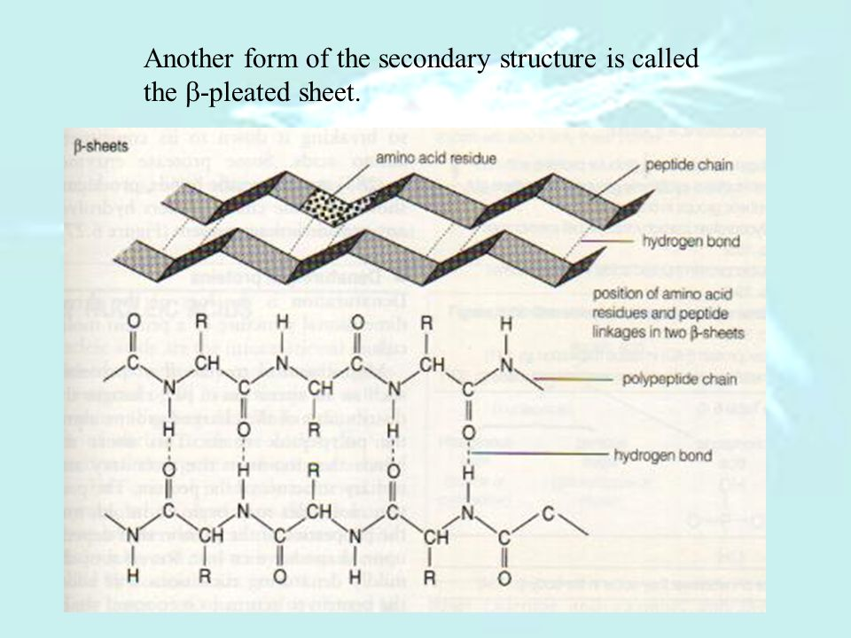 Another form of the secondary structure is called