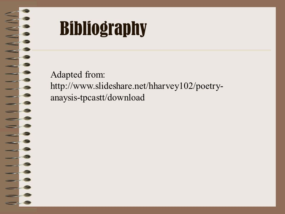 Bibliography Adapted from: