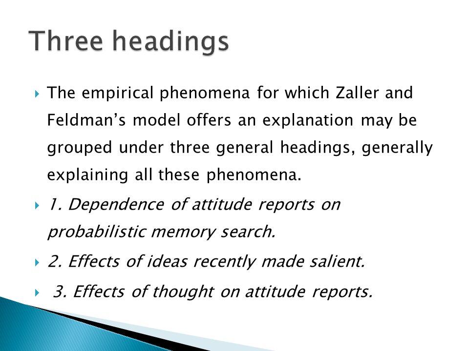 Three headings
