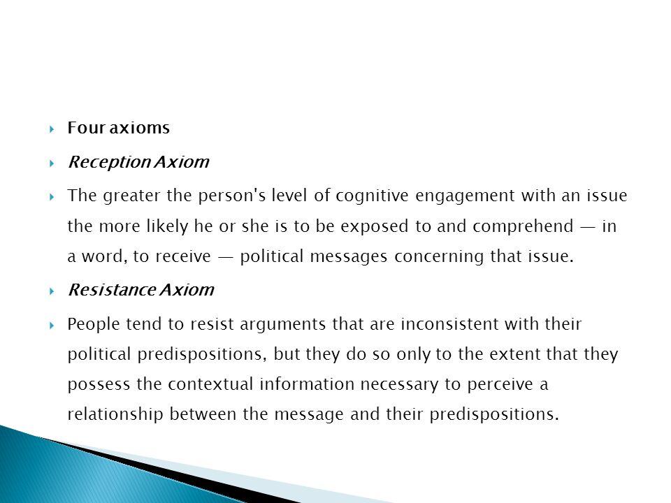 Four axioms Reception Axiom.