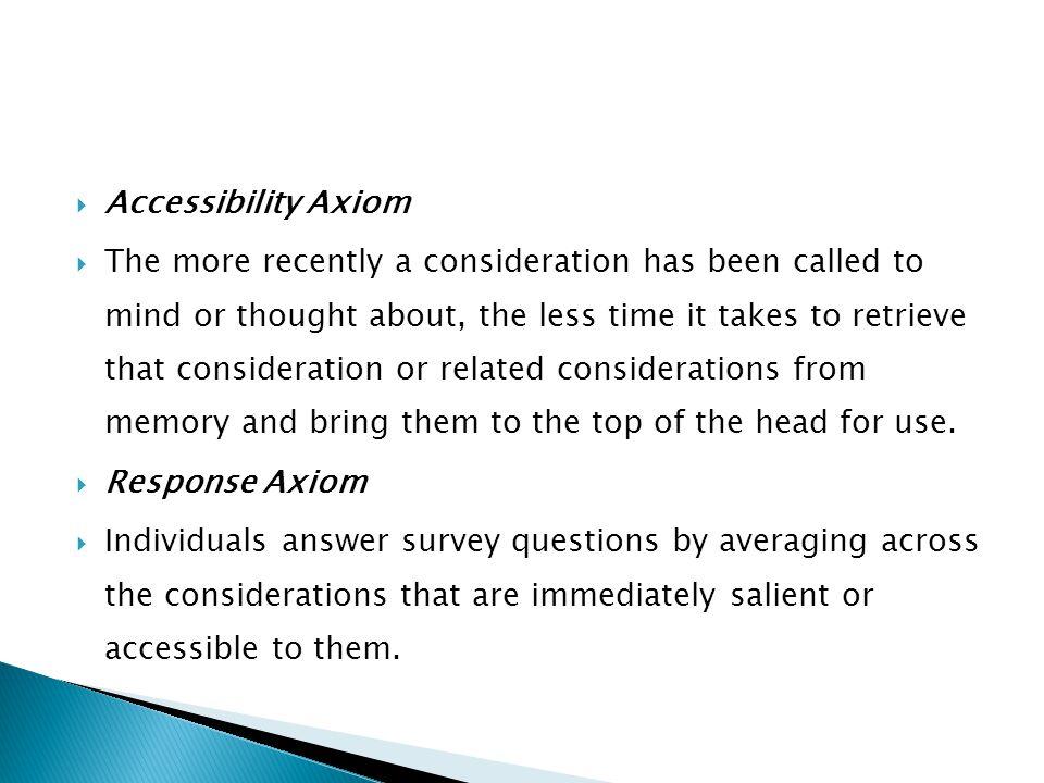 Accessibility Axiom