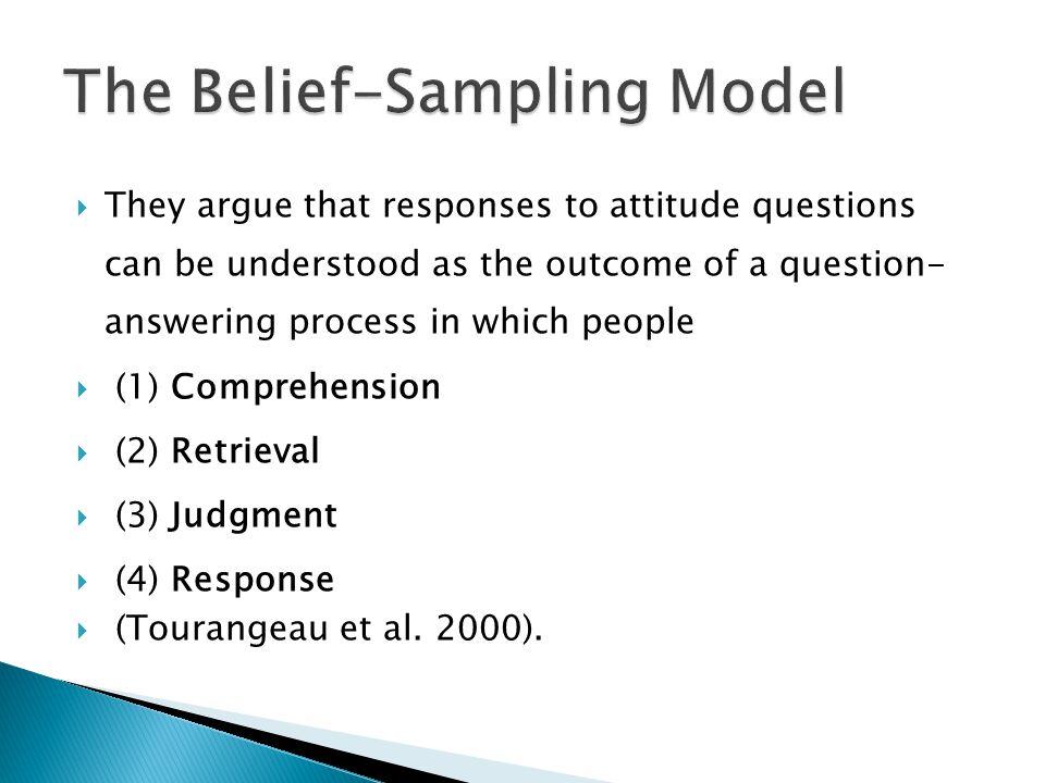 The Belief-Sampling Model