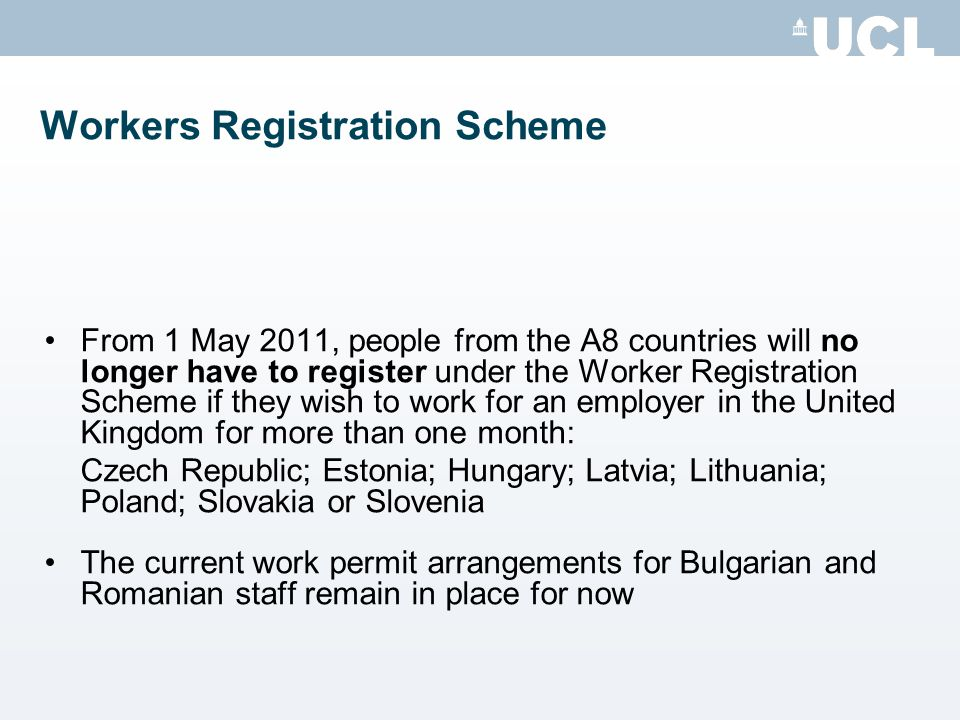 Workers Registration Scheme