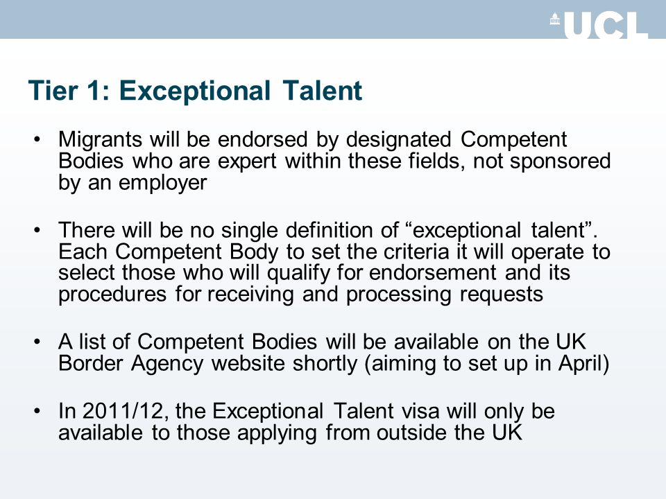 Tier 1: Exceptional Talent