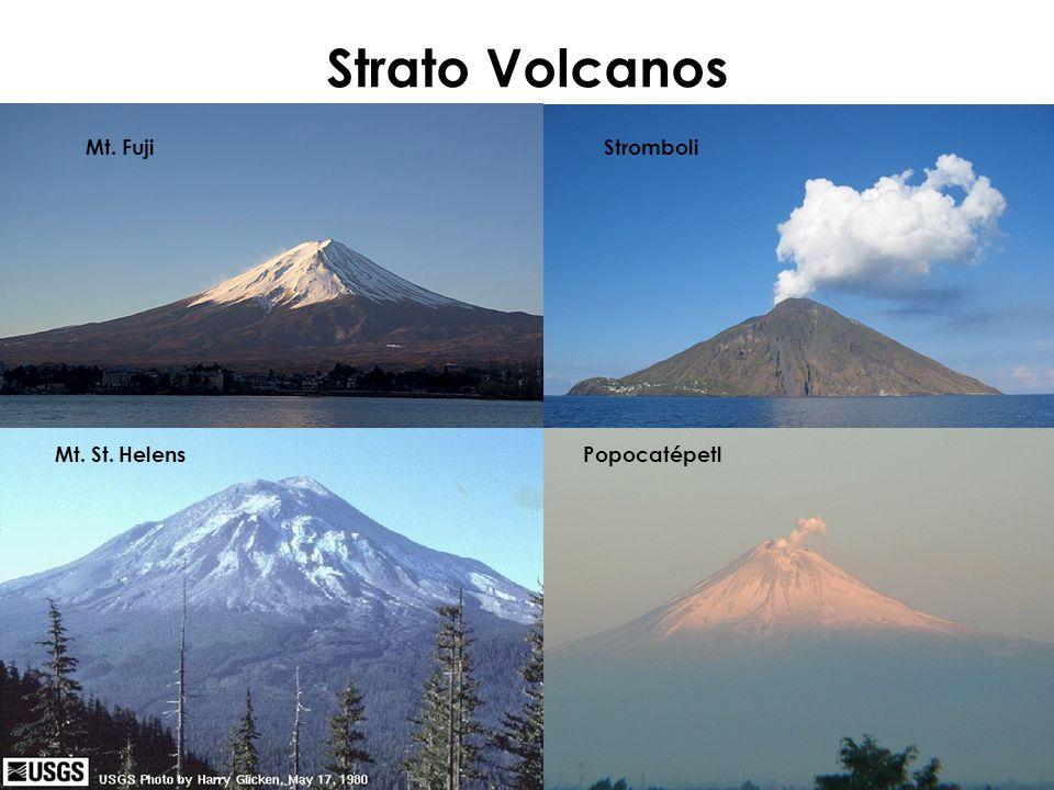 Strato Volcanos Mt. Fuji Stromboli Mt. St. Helens Popocatépetl