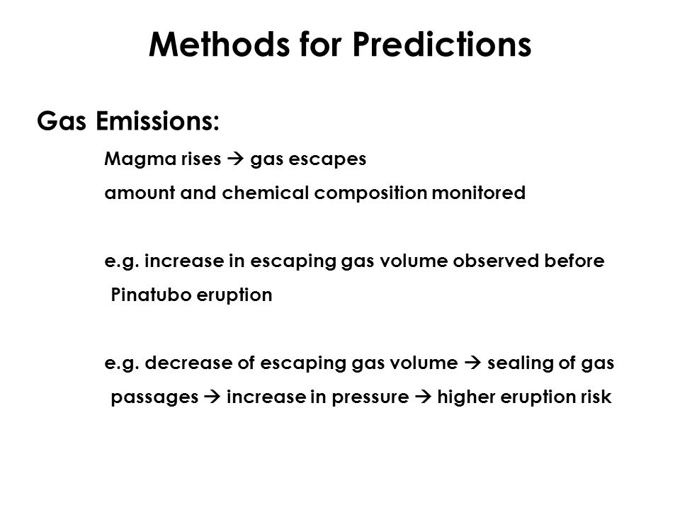 Methods for Predictions