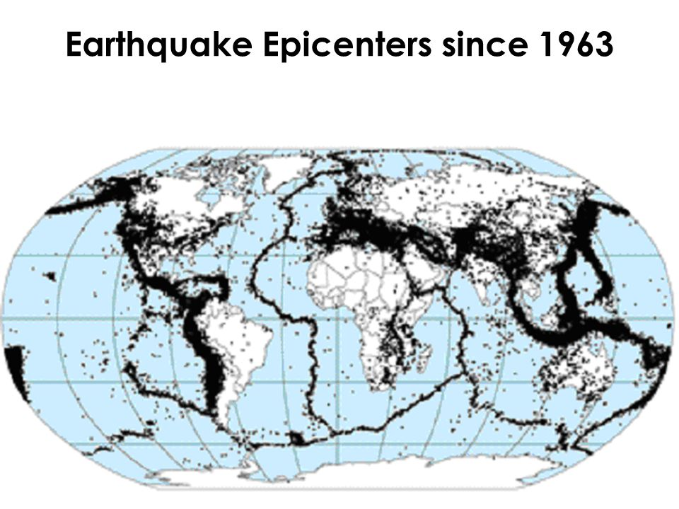 Earthquake Epicenters since 1963