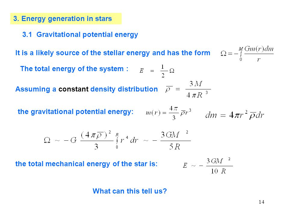 3. Energy generation in stars