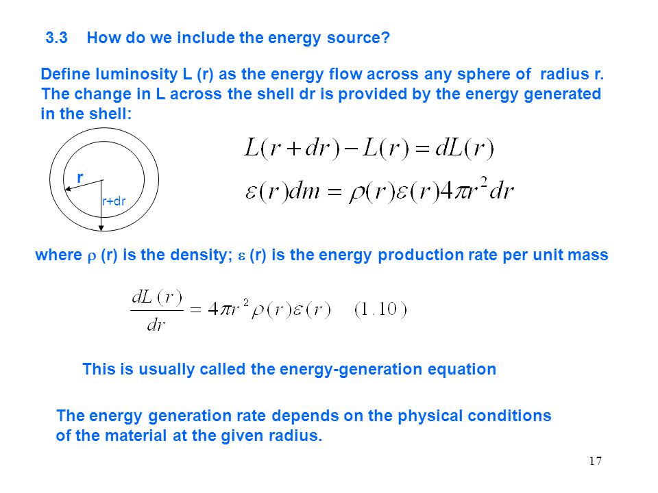 3.3 How do we include the energy source