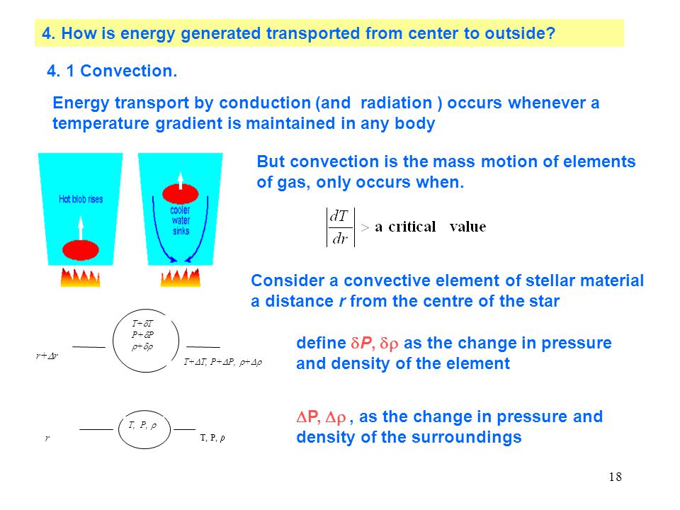 4. How is energy generated transported from center to outside