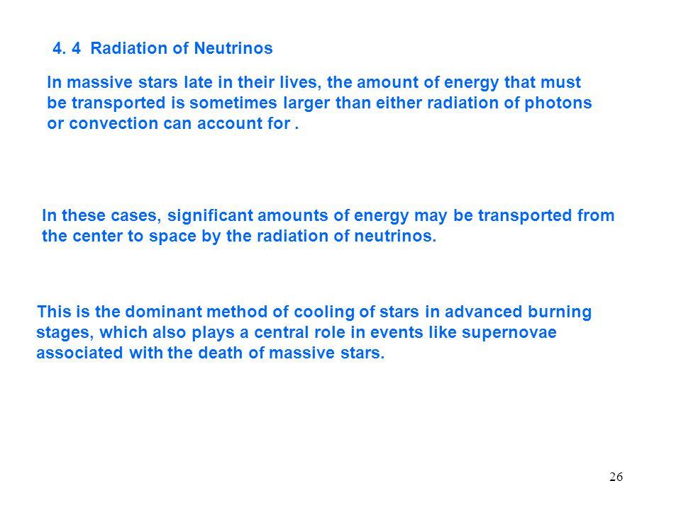 4. 4 Radiation of Neutrinos